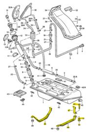 924/944 Kraftstofftank-Rückhaltegurte - Kombi-Deal