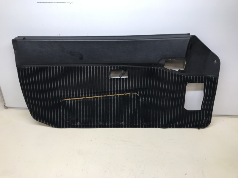 944 Typ 2 Türverkleidung schwarz Leder / Stoff - Fahrerseite