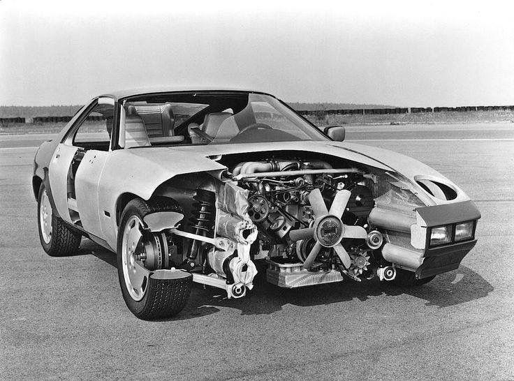 Porsche 928 weggeschnitten