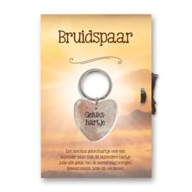 """Sleutelhangerkaart """"Bruidspaar"""""""