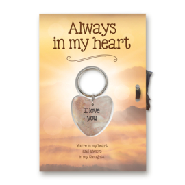"Sleutelhangerkaart ""Always in my heart"""