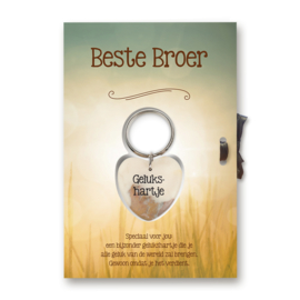"Sleutelhangerkaart ""Beste broer"""