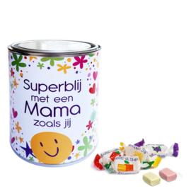 Gevuld snoepblik - Superblij met een mama zoals jij