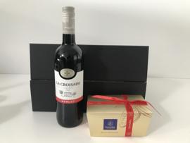 Giftbox 'Wine and chocolate'