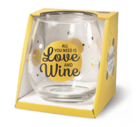 Glas - All you need is love and Wine