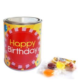 Gevuld snoepblik - Happy Birthday