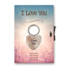 """Sleutelhangerkaart """"I Love You"""""""