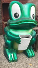 Mega kikker grote afvalbak 🗑 eyecatcher