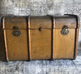 Antieke hutkoffer koffer groot