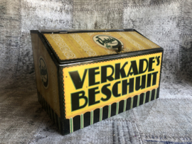 Verkocht Verkade beschuit blik antiek