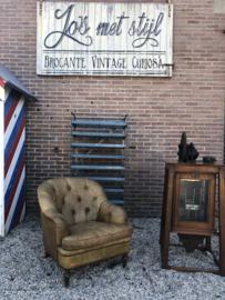 Unieke chesterfield fauteuil verkocht