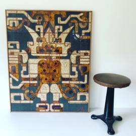 Mid century ceramic wall art vintage design