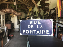 Verkocht 😜Rue de la Fontane straatnaambord incl. verz. ned