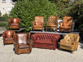 Schaapslederen fauteuil's set van 2