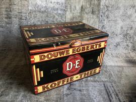 Verkocht Douwe Egberts groot blik  D.E.