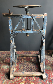 Antieke pers geweldige patina draaipers lagerpers