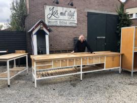 Verkocht 😜 Bakkerstafel werkbanktafel