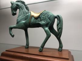Bronzen beeld Paard op sokkel Incl Verz.Belgie ned