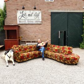 Unieke bloemenbank bloemetjesbank  chaise lonque
