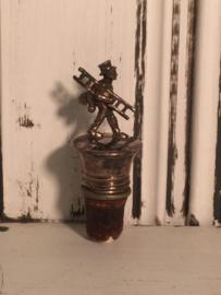 Schoorsteenveger verzilverd flessenstop
