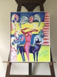 """Schilderij """"Paard bereden door droom"""" J Wols"""