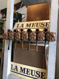 Verkocht  😜 Pijpenrek oud tabaksrek