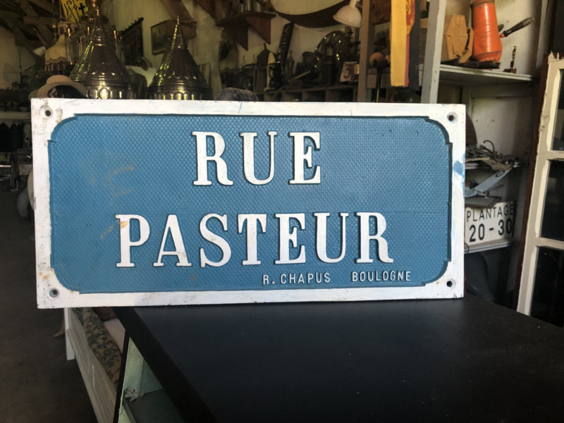 Rue Pasteur straatnaambord incl. Verz.ned