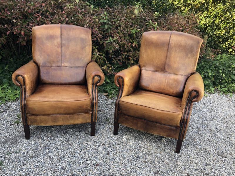 Verkocht 😜 Berlijn Schaapslederen fauteuil