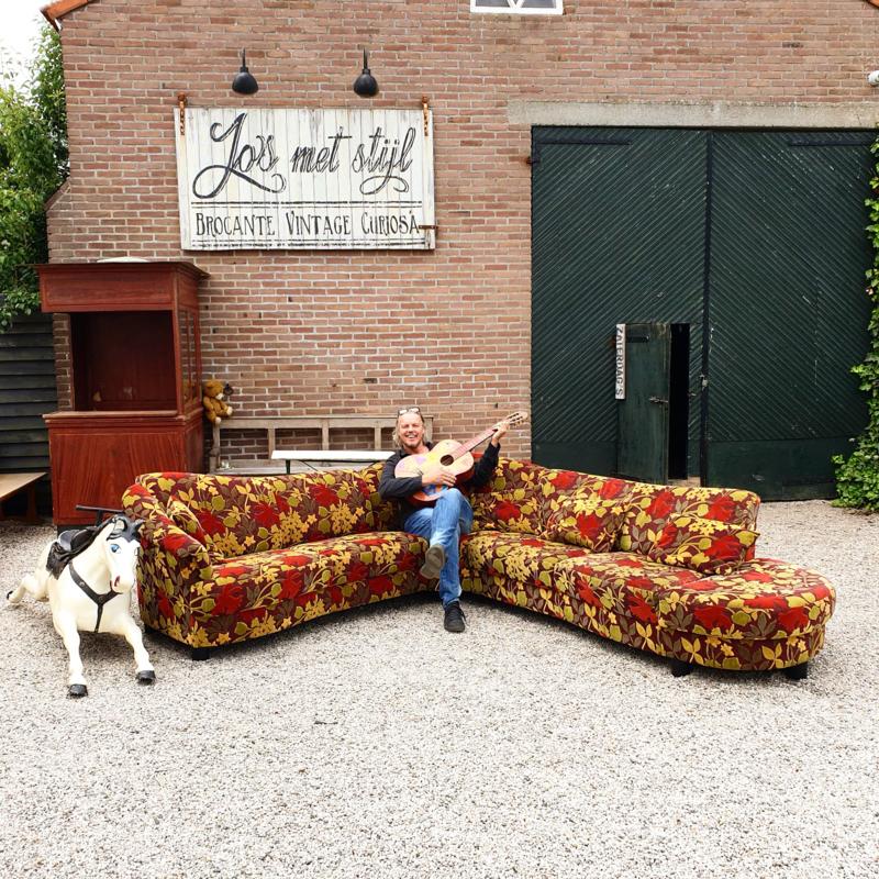 Verkocht 😜 Unieke bloemenbank bloemetjesbank  chaise lonque