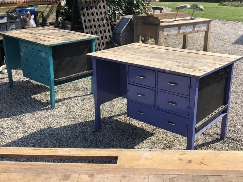 Verkocht Werkbank  keukenblok dubbelzijdig ladenkast