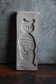 Oud Speculaasplankje met Beertje - hout