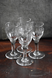 Oude Glaasjes - set van 4