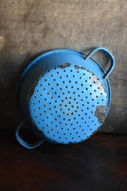 Brocante Emaille Vergiet - blauw