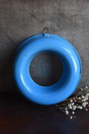 Brocante Emaille Rijstrand - blauw