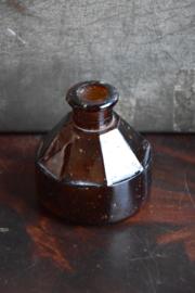 Antiek Inktpotje - bruin