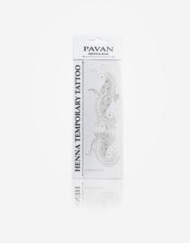 Pavan Henna | Temporary Tattoo |Paisley Passion Silver 06