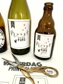 Gepersonaliseerde bier en wijn etiketten met naam voor Vaderdag!