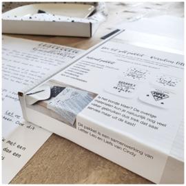 DIY pakket 'Handletteren op porselein'