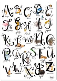 Dieren alfabet poster