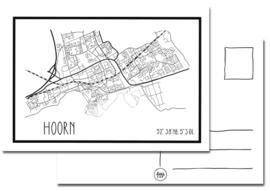 Kaart Hoorn plattegrond