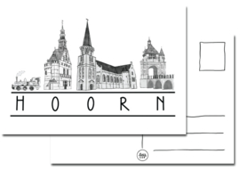 Kaart Hoorn gebouwen