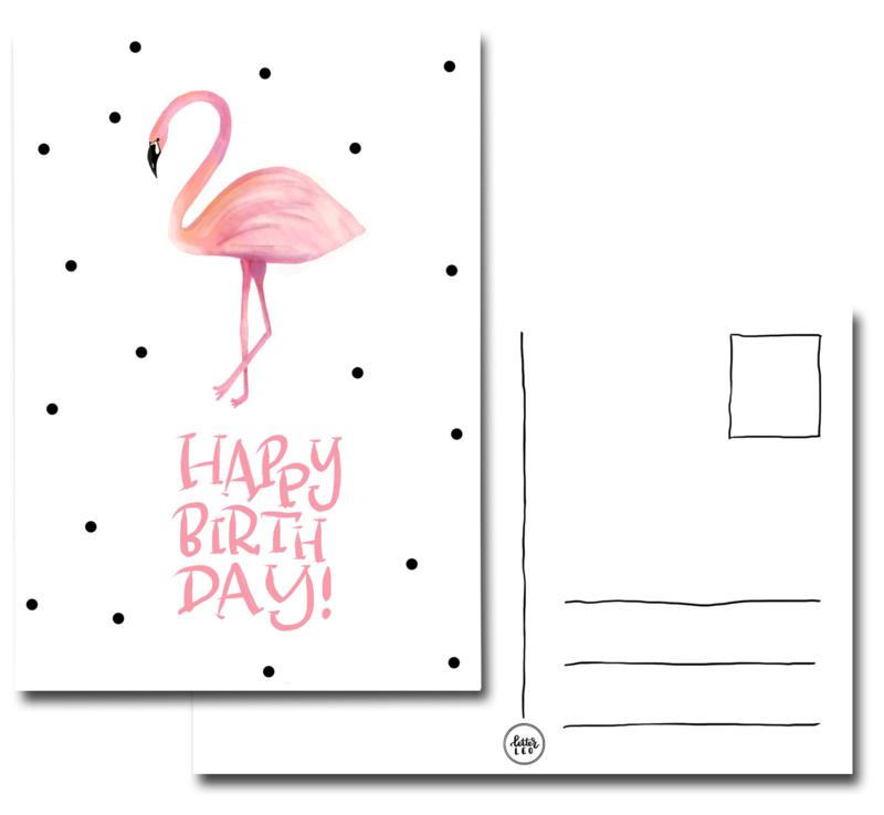 Happy birthday flamingo