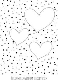 Neutrale A5 bewaarbundel   harten