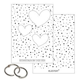 Neutrale A5 bewaarbundel | harten