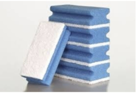 interieur spons blauw