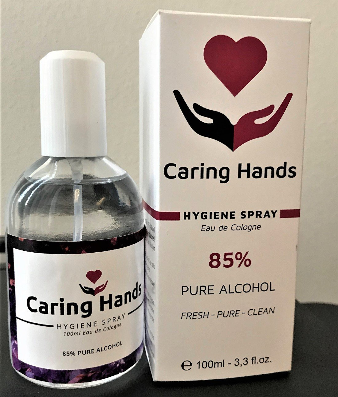 caring hands 85% alcohol
