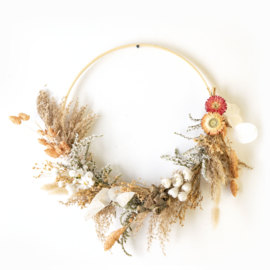 Dried Flower Wreath half deco orange