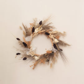Dried Flower Wreath full brown XS