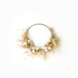 Dried Flower Wreath half deco neutral XS