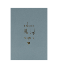 Ansichtkaart 'Welcome little boy' set van 5